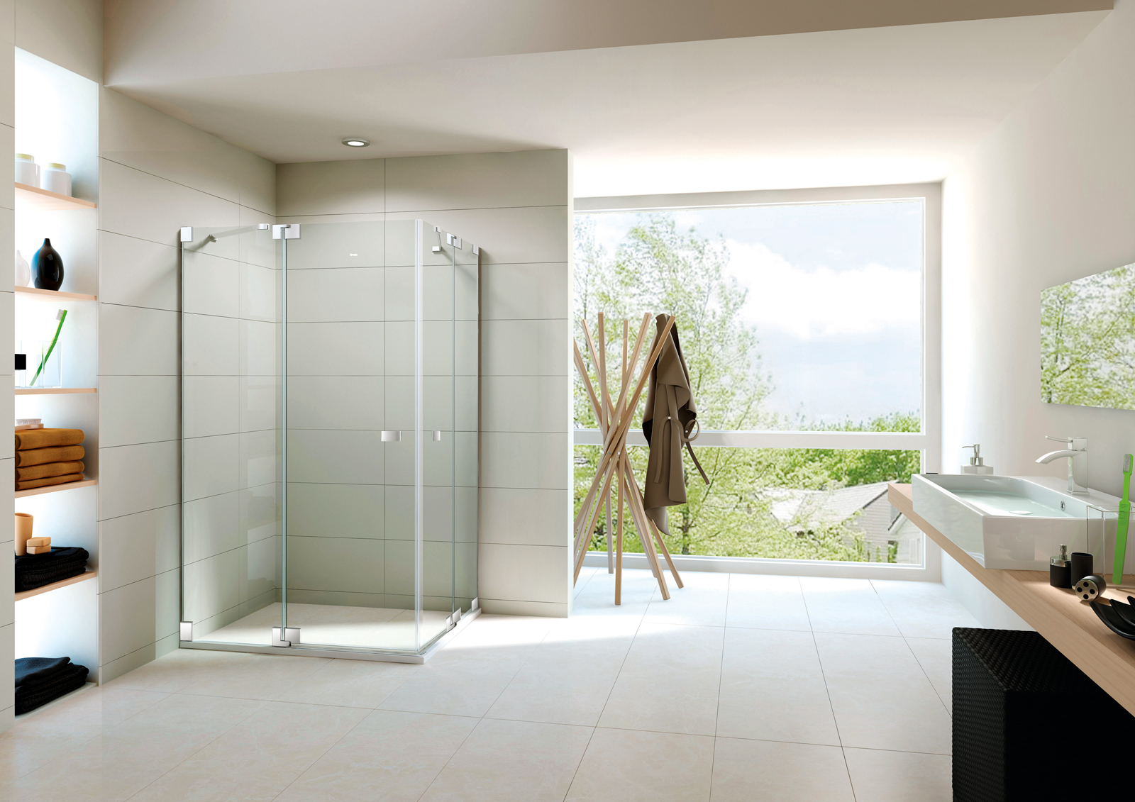 A Good Shower Enclosure Has A High Requirement For Glass
